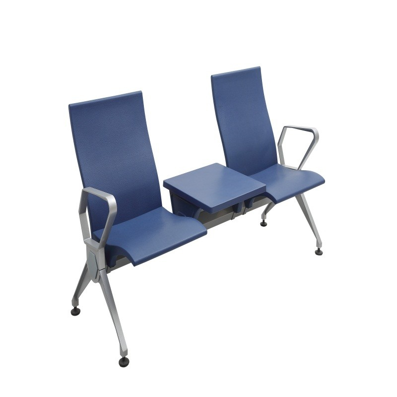 PU plastic airport waiting room chair with tea table P2003