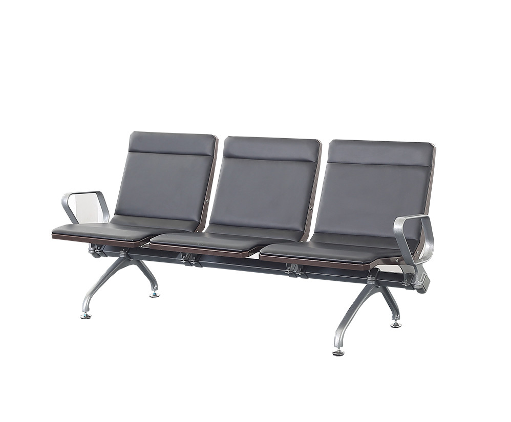 High back PU public waiting room airport chair P1801