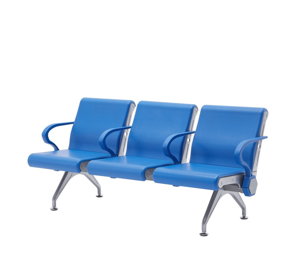 PU plastic public airport waiting chair P2011
