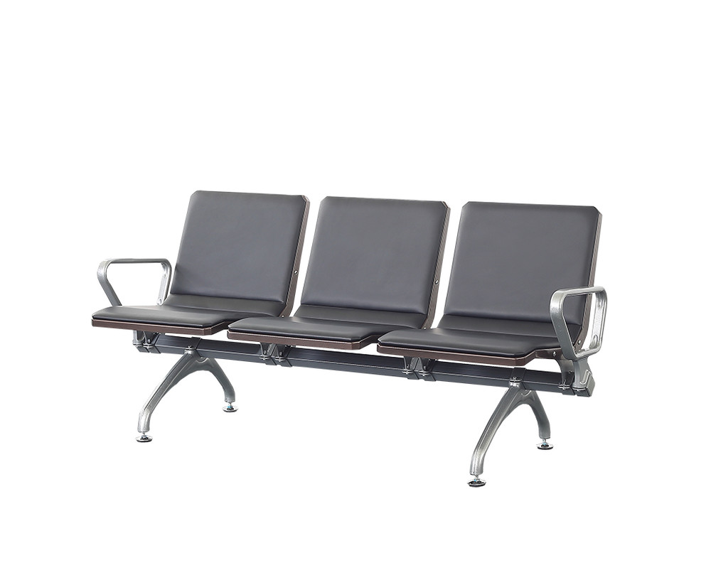 Metal airport waiting chair with cushion P1802