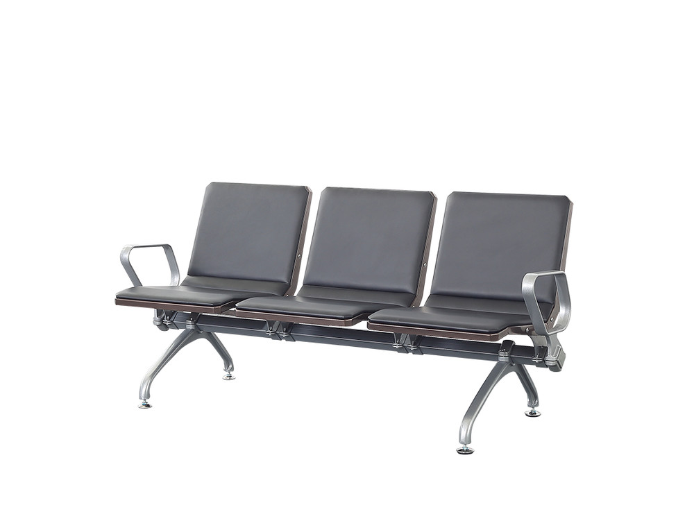 aluminium metal waiting chair public airport waiting bench P1811