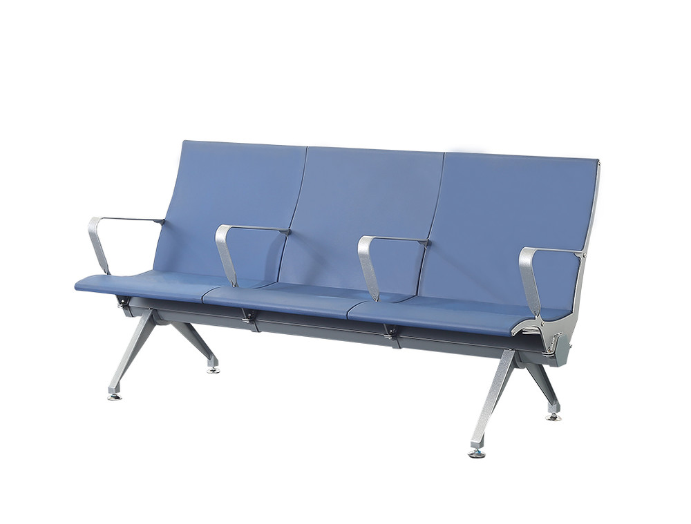 PU plastic airport waiting chair aluminium leg waiting bench P1804