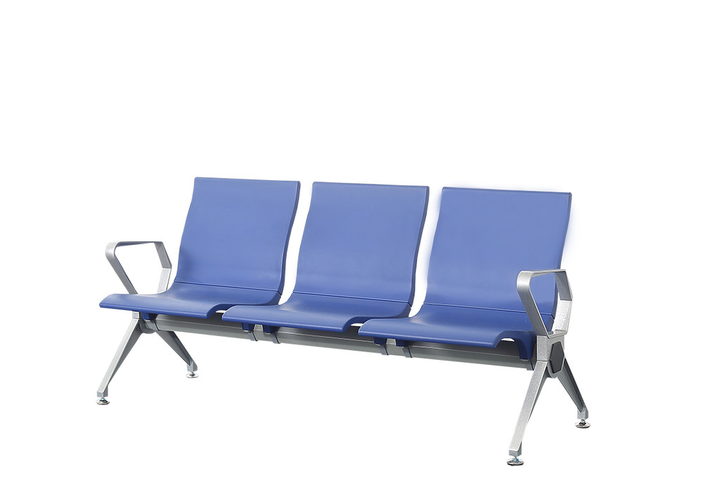 aluminium PU plastic waiting chair public airport waiting bench P1808