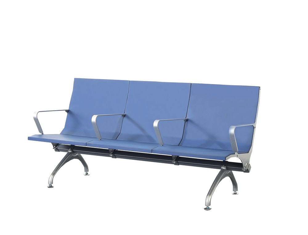 PU plastic public airport waiting chair hospital waiting bench P1812
