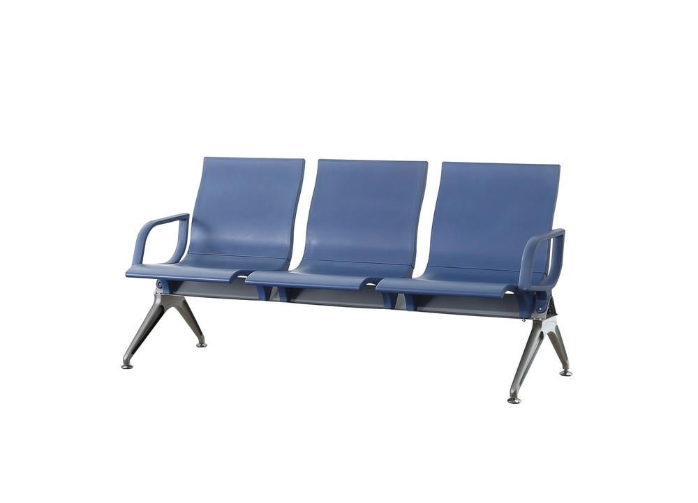 aluminium PU plastic airport chair public waiting bench P1819