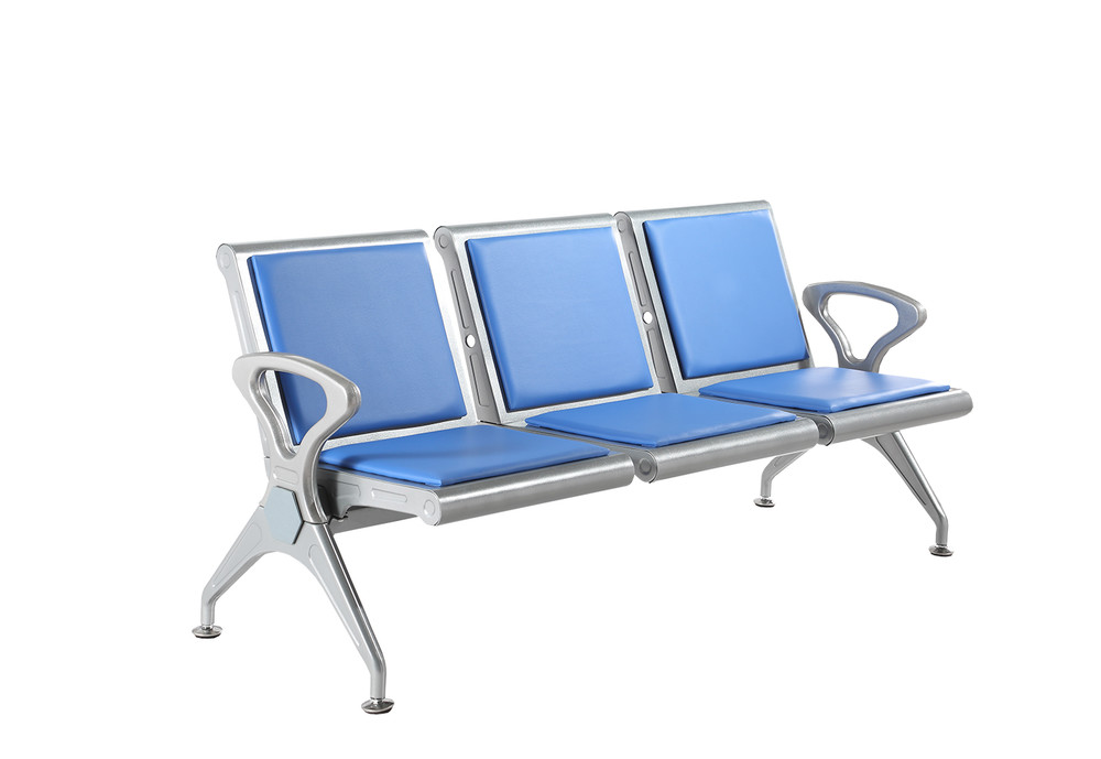 metal airport waiting chair with cushion P1706P