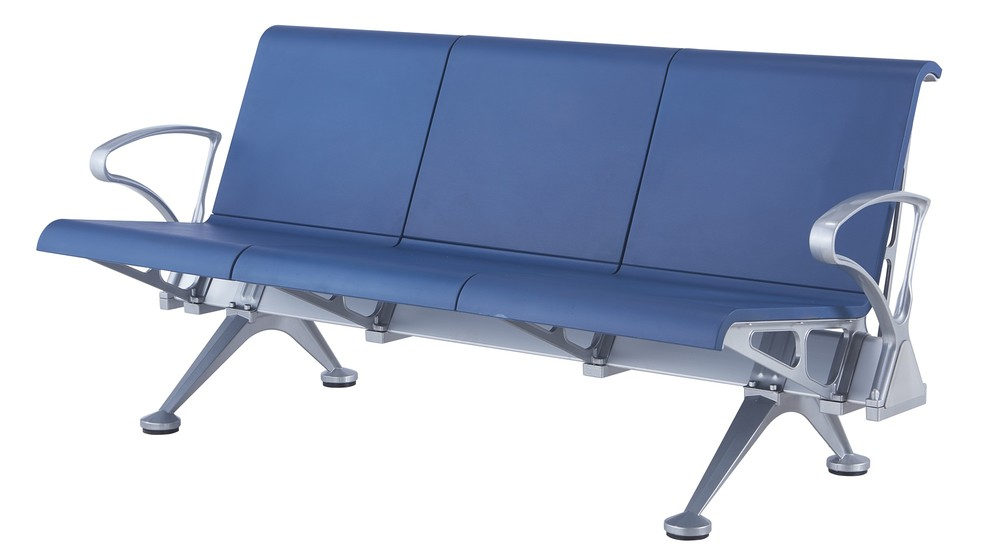 PU plastic airport chair public waiting bench P1718