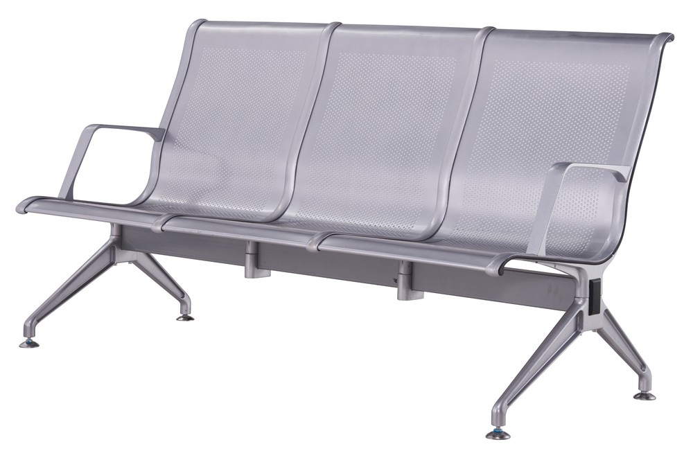 high back aluminium public waiting room airport chair P1726