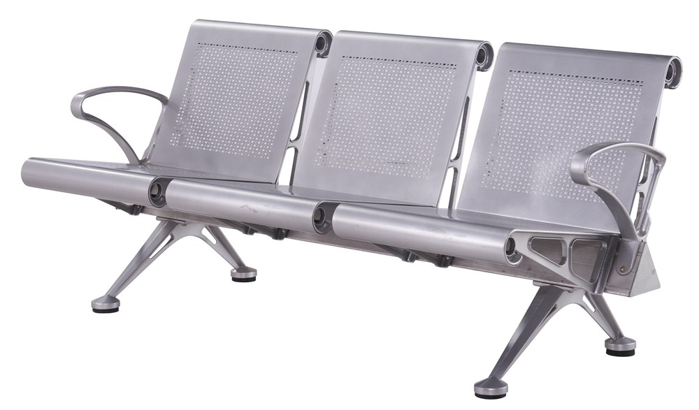 metal back aluminium public airport waiting chair P1618