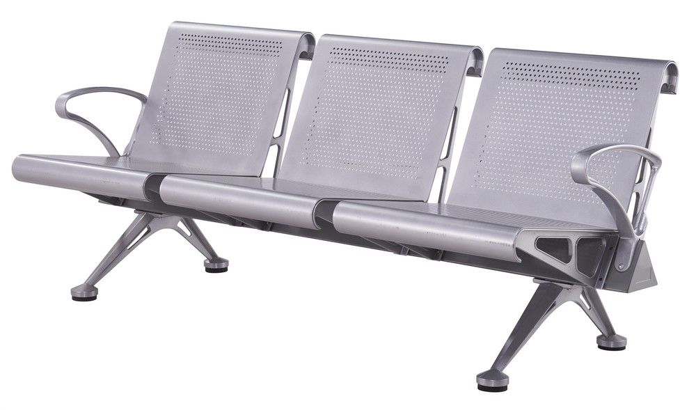 aluminium airport waiting chair public bench P1622