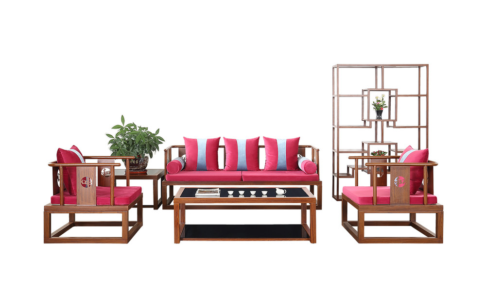 Chinese style home furniture living room waiting sofa OH1802