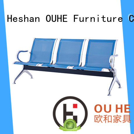 OUHE customized airport seating chairs with different color for airport