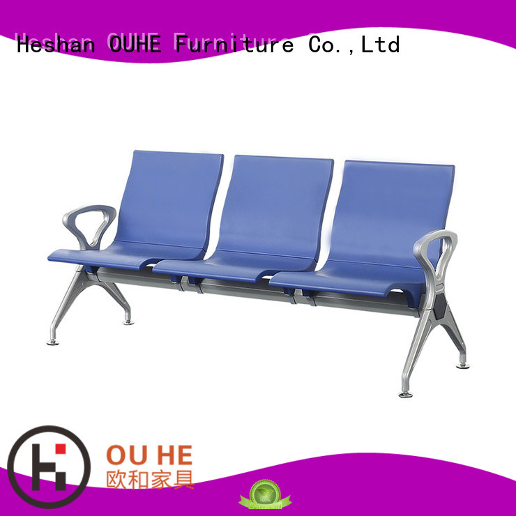 move easily 3 seater airport chair with different color for subway