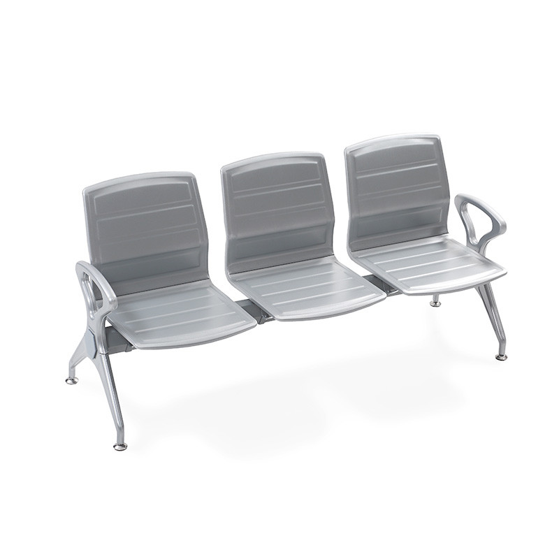 Silver Shining Steel Airport Chair P1820