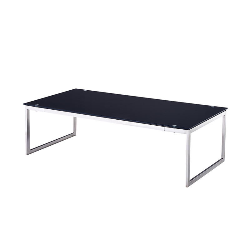 Stainless Steel Frame Tough Glass Office Tea Table OH039
