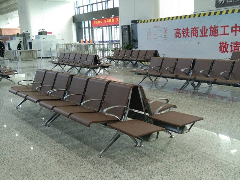 OUHE furniture supplies waiting chairs to the high-speed railway station