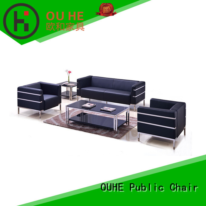 OUHE leather sofa set factory price for home